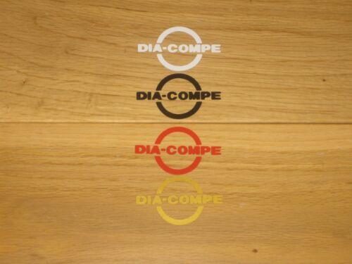 2 X DIA COMPE BMX Stickers Imprimé Vélo Autocollants Cadre Fourche Roue Vélo années 80