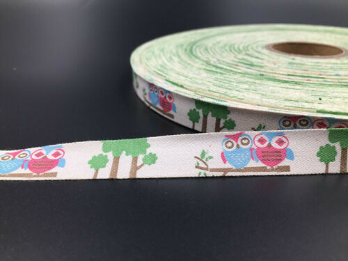 15mm Plant Cotton Ribbon Handmade Gift Present Package DIY Sewing Craft 5-10y