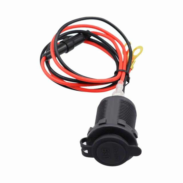 Dual USB Motorcycle Mobile Phone Power Supply Charger Waterproof Port Socket 12V