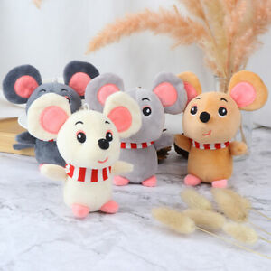 Cartoon-Animal-Small-Mouse-KeyChain-Toy-Doll-Pendant-Stuffed-Hamster-Toy-ST