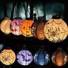Vintage Halloween Festival Party Decor LED Pumpkin Spider DIY Paper Lantern J