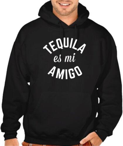 Tequila Es Mi Amigo Men/'s Black Hoodie sweatshirt V378 Drink Party Fiesta Shots