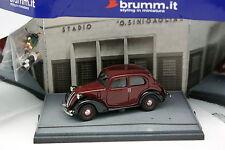 Brumm 1/43 - Fiat 1100 Balilla Stade Balilla avec 2 Figurines Football