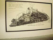 Virginian  Railway 2-10-10-2 Compound 1976 Exhibit Pen Ink Monster Steam
