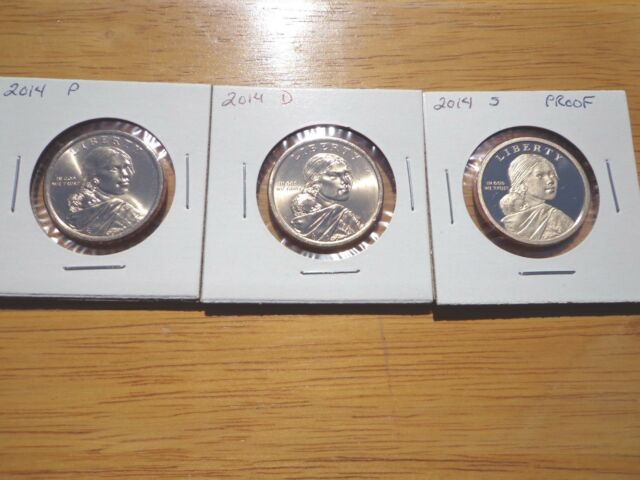 2000 P D S Native American Sacagawea Dollar Year Set Proof /& BU US 3 Coin Lot