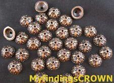 100 pcs Antiqued copper corolitic bead caps 9mm FC163