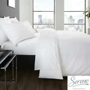 Plain-Dye-Easy-Care-Mix-and-Match-Duvet-Cover-amp-Sheets-In-White-By-Serene