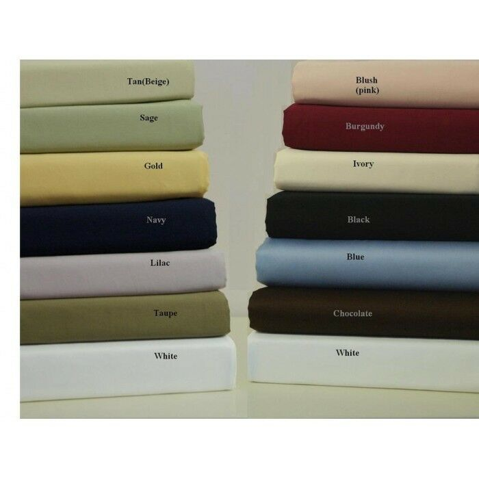 Luxurious 4 PCs Soft Attached Water Bed Sheet Set 1000tc 100%Egyptian Cotton