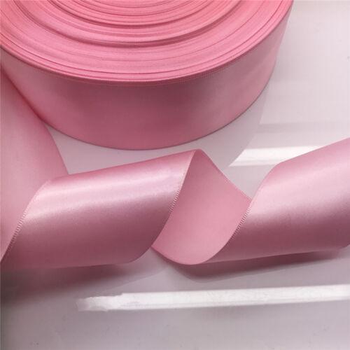 "New 5 Yards 50mm 2/""  Pink Satin Ribbon Multi-Purposes Wedding Party Craft"