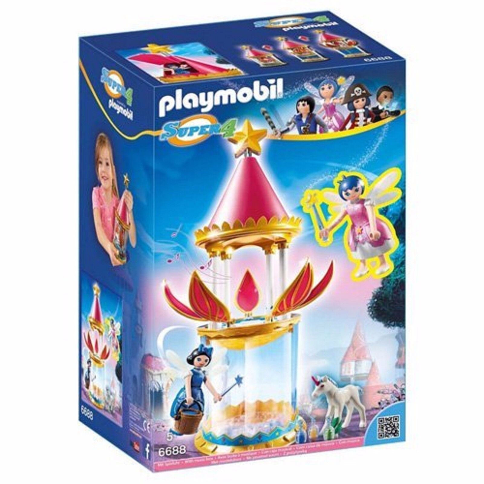 Playmobil 6688 Super 4  Enchanted Isle Fairy Castle Ages 5+ Boys Gift Girls divertimento  in linea