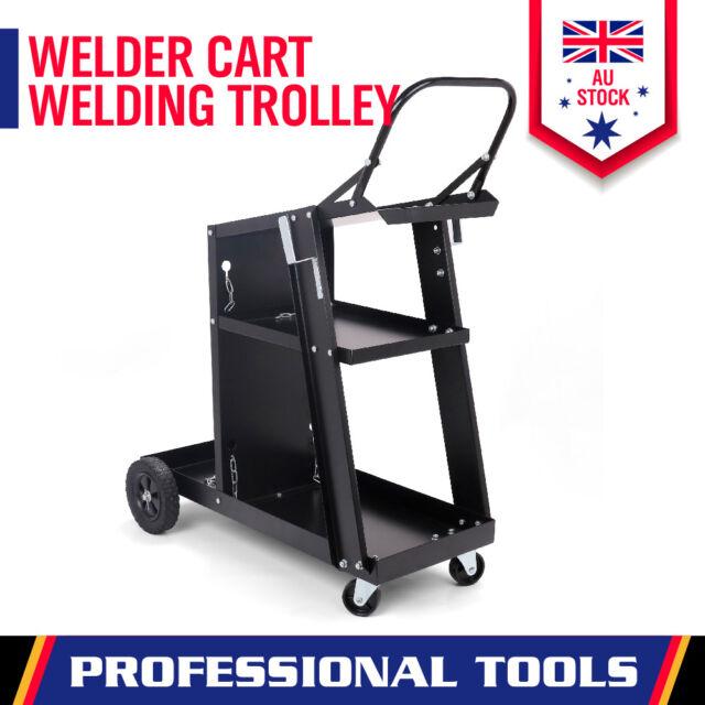 999233db9809 Heavy Duty Welding Cart Trolley MIG TIG ARC Welder Plasma Cutter Bench  Storage