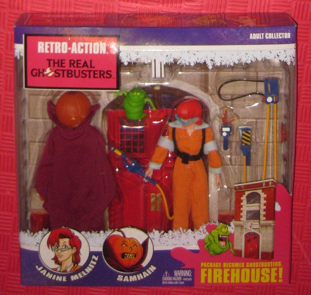Mattel - retro - aktion the real ghostbusters feuerwache samhain janine melnitz nib