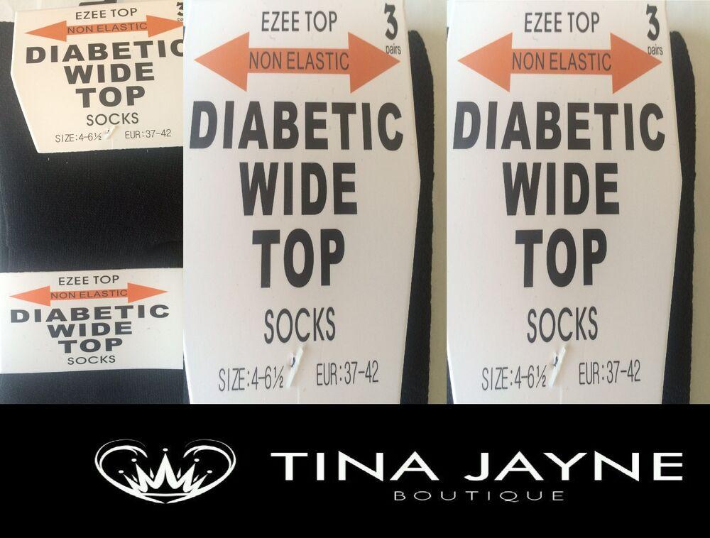 Amical Mesdames, Homme Noir 12 Paires Diabétique Large Top Chaussettes, Taille 4 - 6.5. (37-40) #12.99 Doux Et AntidéRapant