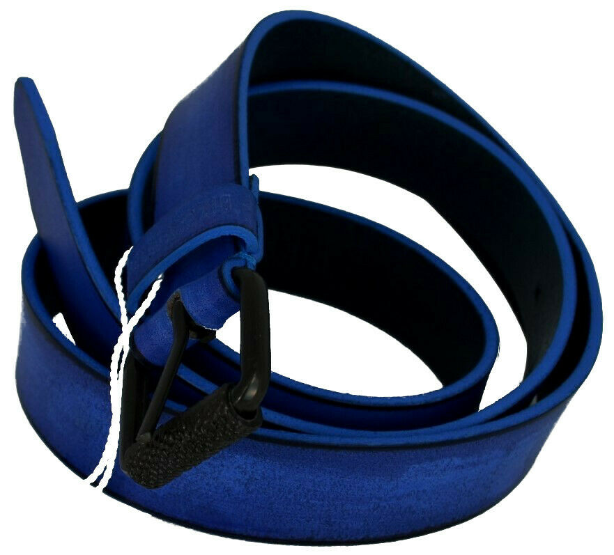 Herren Gürtel BIKKEMBERGS Mann Leather Allover Loop DB H3 Tinte Medium D1820