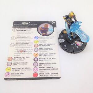 Heroclix-Avengers-Infinity-set-Nova-032-Rare-figure-w-card