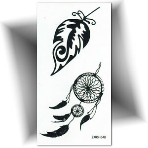 Details Sur Petit Tatouage Temporaire Plume Ephemere Faux Tattoo Femme Autocollant