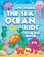 Coloring Book Page For Kids Painting Marine Life Pattern Young Children Activity
