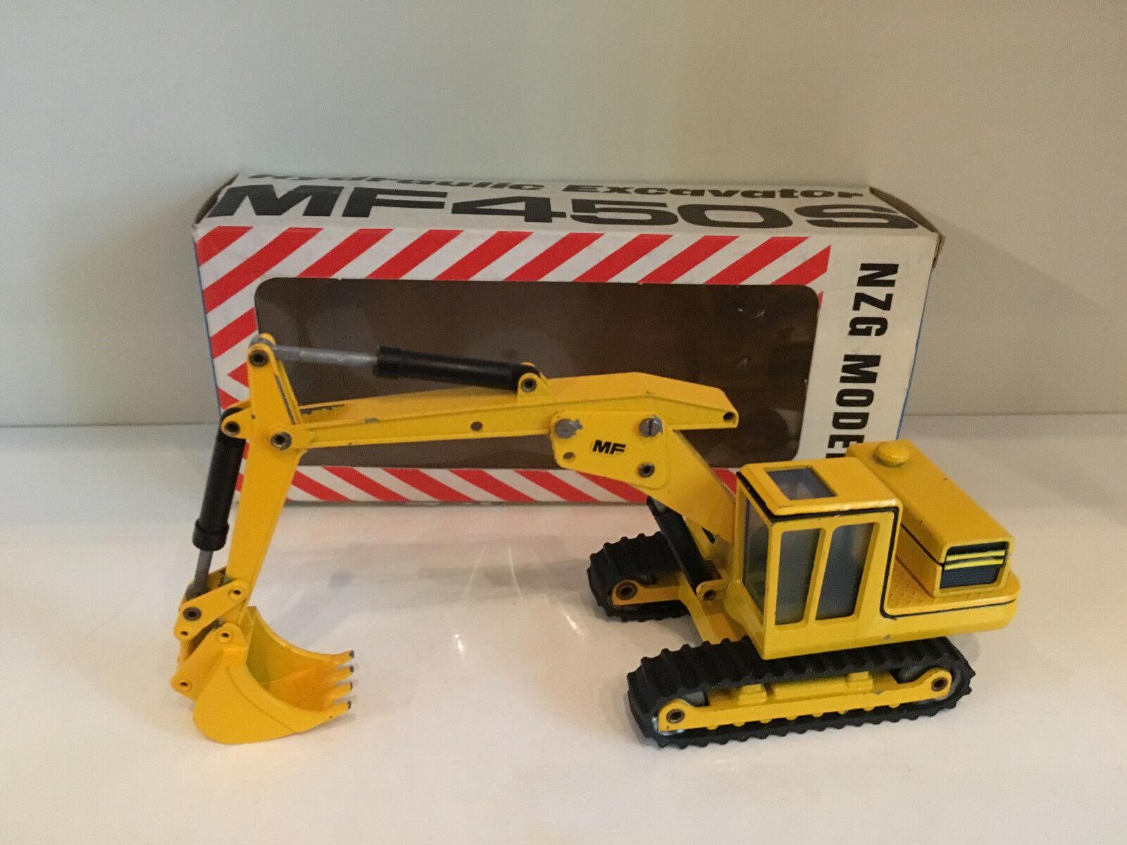 MF 450 S Chaînes Excavateurs jaune de NZG 106 1 50 Neuf Dans Sa Boîte