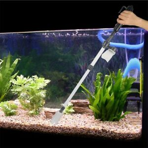 Battery Aquarium Gravel Vacuum Cleaner Sand Fish Tank Cleaning Syphon Water New Ebay