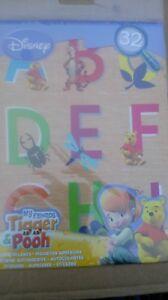 Winnie the pooh letter sticker set. 32 stickers, disney, My friends Tigger & Poo