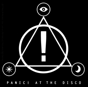 5605 Panic At The Disco Black White Symbols Logo Rock Emo