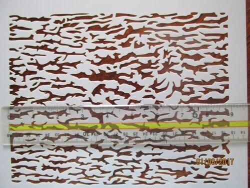 Tree Camo Stencil Reusable 10 mil Mylar Stencil