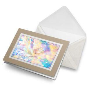 Greetings-Card-Biege-Magical-Pretty-Pattern-Girls-3963