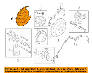 Image Is Loading Subaru Oem 08 13 Forester Rear Brake Backing