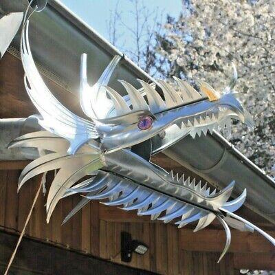"""Drachenkopf Wasserspeier """"myrcella"""" Aus Titanzink Dn 76/80/87 Drachen Dragon"""