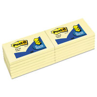 Post-it Original Canary Yellow Pop-up Refill 3 X 5 12/pack R350yw on sale