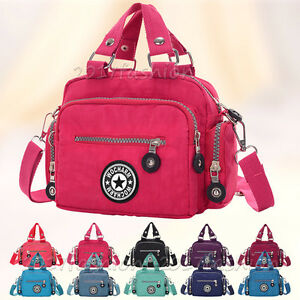 Fashion WOCHARM Women's Waterproof Nylon Handbag Lady Shoulder Bag Purse Zip Bag