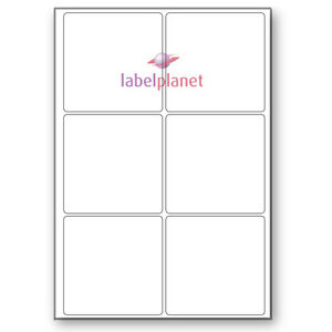 6 per page white a4 self adhesive square laser printer labels label