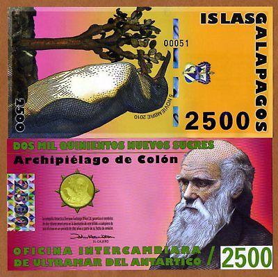 500 nuevos sucres POLYMER Galapagos fantasy note