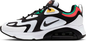 Details about Nike Air Max 200 Men's Casual Sneakers Shoes WhiteBlackBright Crimson New