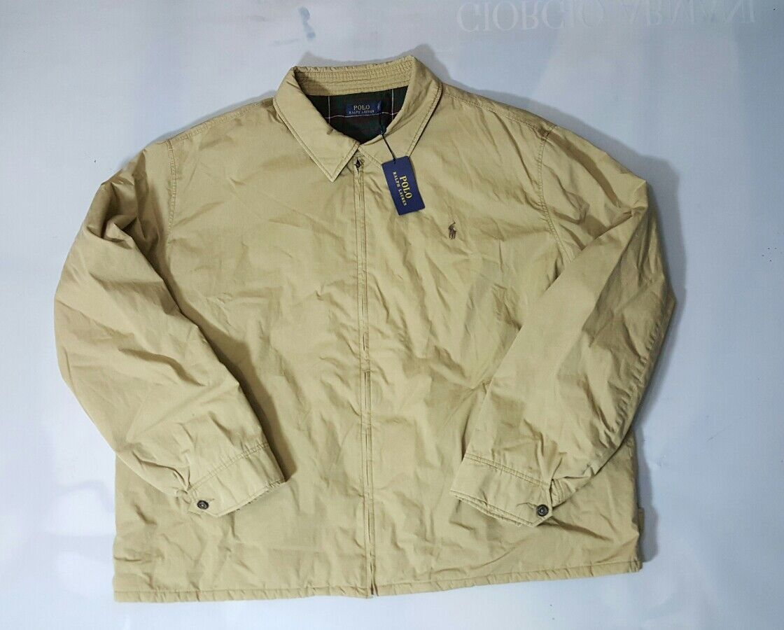 POLO RALPH LAUREN SHELLBURNE PLAID LINED LOGO INTERIOR PONY LOGO LINED WINDBRAKER (4XLT) 0ea9be