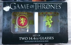 Game-of-Thrones-Lannister-Set-of-Two-14-4oz-Glasses-with-Gold-Rims