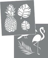 "Americana Decor Stencils, Tropical, Pineapple, 8"" x 8"", 2 stencils per package"