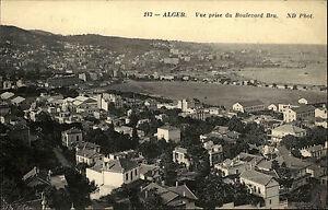 Algier-Alger-Algerien-al-Dschaz-ir-AK-1910-Vue-prise-du-Boulevard-Bru-Panorama