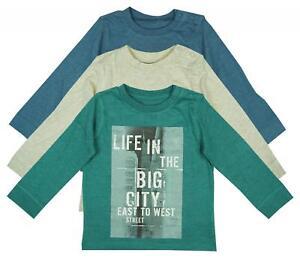 Haut-garcon-manche-longue-vie-dans-la-ville-baby-t-shirt-pack-de-3-enfants-de-0-a-24-mois