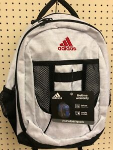 141fa7b9b2 Image is loading Adidas-Atkins-Backpack-Booksack-Jersey-White-Black-Red-