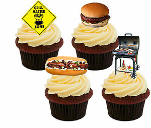 Standup Fairy Cake Men Barbecue BBQ Edible Cupcake Toppers Bun Decorations
