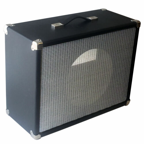 SubZ 1x15 Extension Guitar Cabinet Black Tolex Open Pine Silver Grill