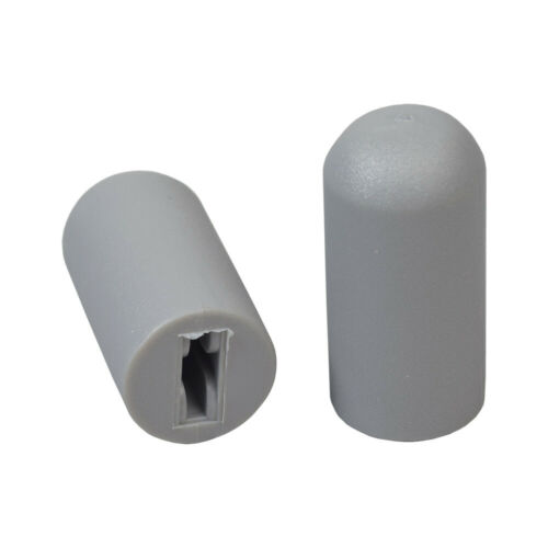 """Gray Rubber Tips for 5//8/"""" Flat Invacare Style Wheelchair Wheel Locks Set of 2"""