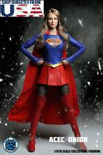 "1/6 SUPERGIRL Head Sculpt Suit Set For 12"" Phicen Hot Toys Female U.S.A. SELLER"