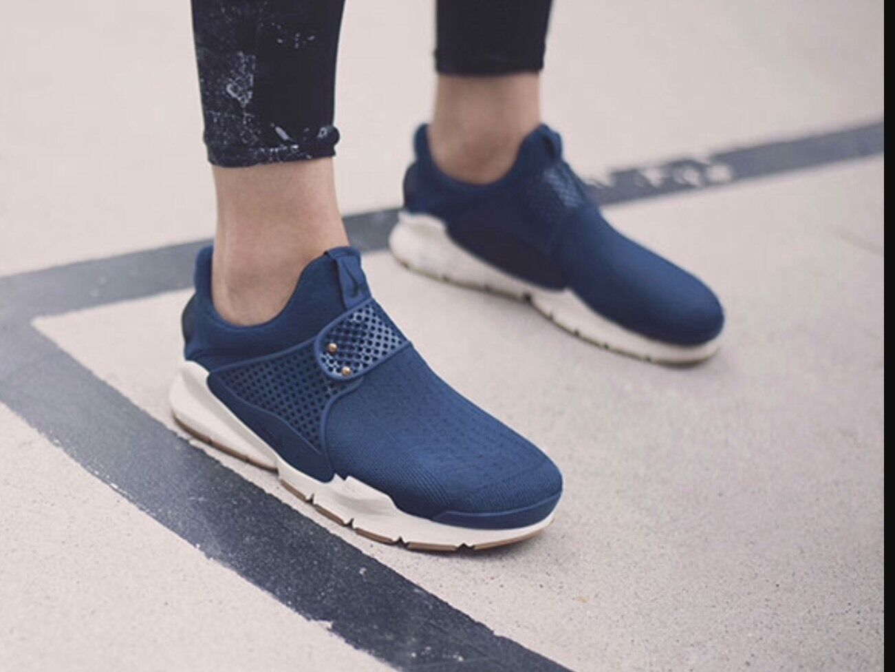 NEW Damenschuhe NIKE SOCK DART COASTAL Blau TRAINERS UK SIZE 4.5