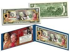 POPE JOHN PAUL II & JOHN XXIII * SAINT DOUBLE CANONIZATION * Official US $2 BILL