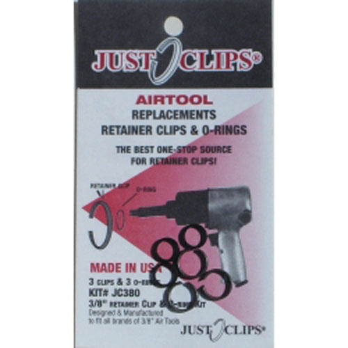 Just Clips 380-12 12Pack 3//8 Anvil Retainer Clip Refill Kit