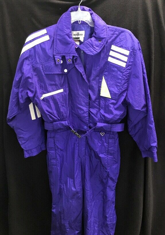 EUC Womens Vintage Sport Obermeyer Purple Insulated Ski Snow Suit Sz 10