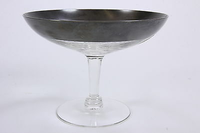 Dorothy C. Thorpe Inc. Sterling Silver Band Allegro Open Compote With Foil Label
