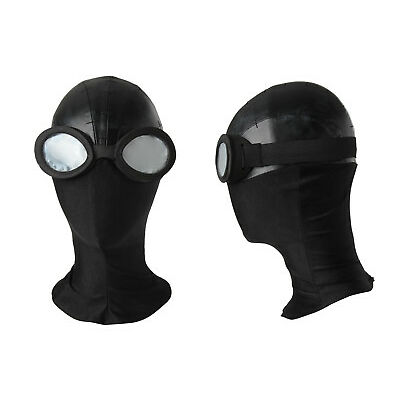 New Spiderman Cosplay Costume Noir Mask with Glasses Superhero Accessories